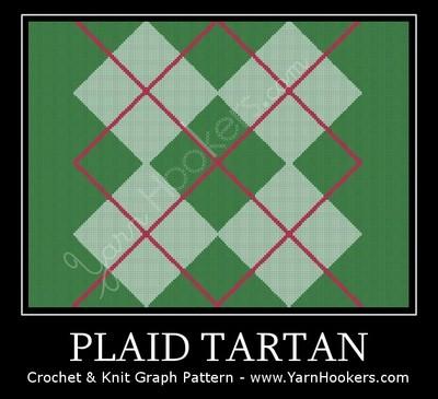 Plaid Tartan - Afghan Crochet Graph Pattern Chart by Yarn Hookers.com
