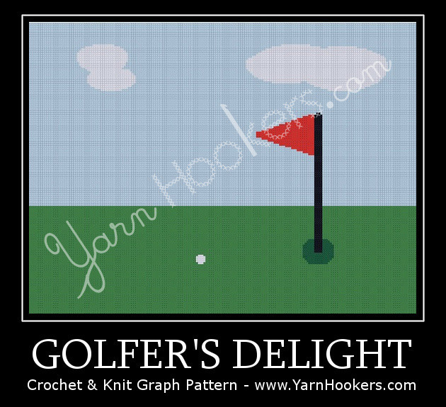 Golfer's Delight - Afghan Crochet Graph Pattern Chart by Yarn Hookers.com