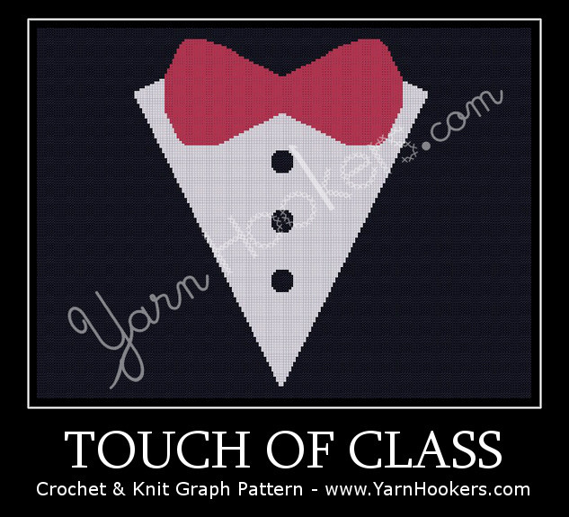Touch of Class - Afghan Crochet Graph Pattern Chart by Yarn Hookers.com