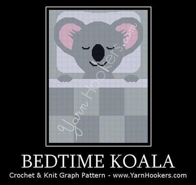 Bedtime Koala - Afghan Crochet Graph Pattern Chart by Yarn Hookers.com