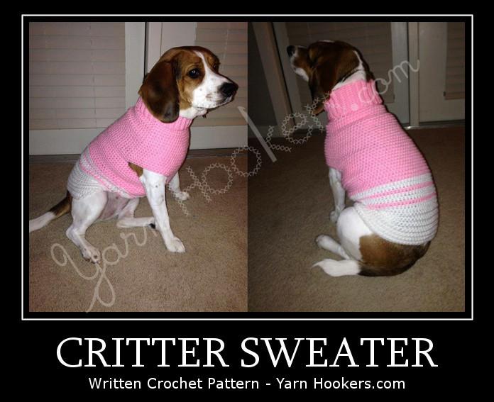 WTS: Critter Sweater (dog/cat) - Written Crochet Pattern