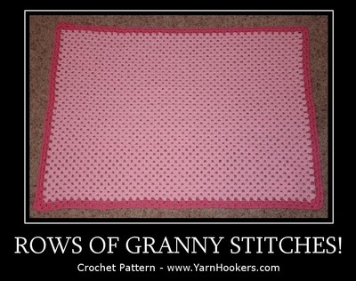 WTS: Rows of Granny Stitches - Written Crochet Pattern