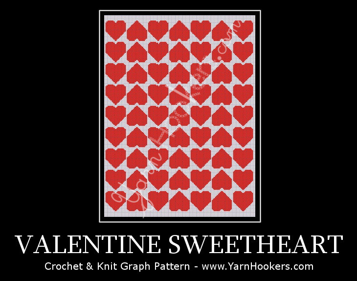 Valentine Sweetheart - Afghan Crochet Graph Pattern Chart by Yarn Hookers.com