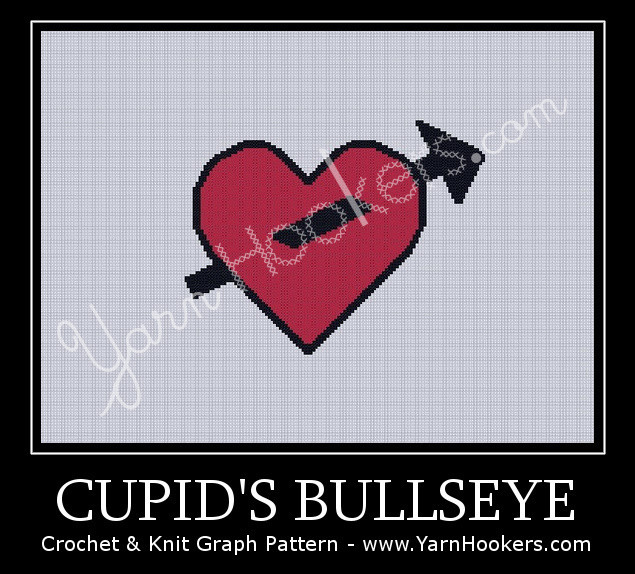 Cupid's Bullseye - Afghan Crochet Graph Pattern Chart by Yarn Hookers.com