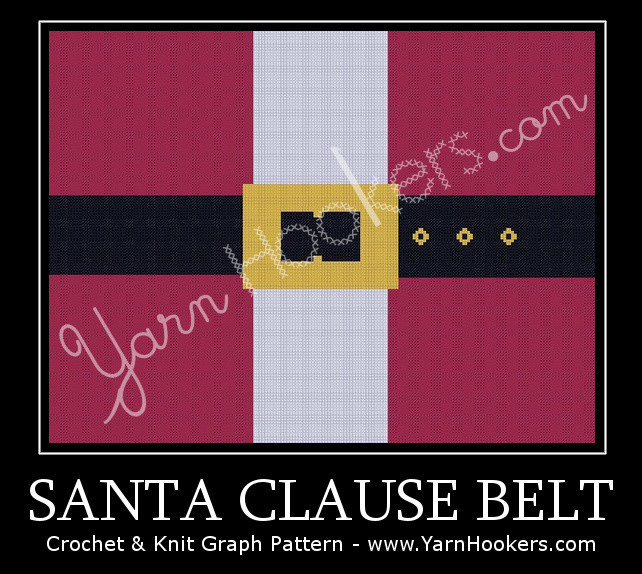 Santa Clause Belt - Afghan Crochet Graph Pattern Chart by Yarn Hookers.com