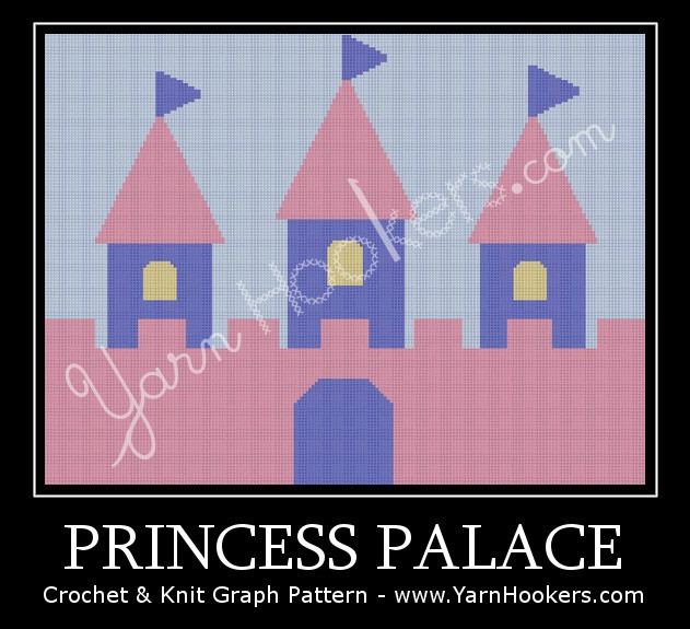 Princess Palace - Afghan Crochet Graph Pattern Chart by Yarn Hookers.com