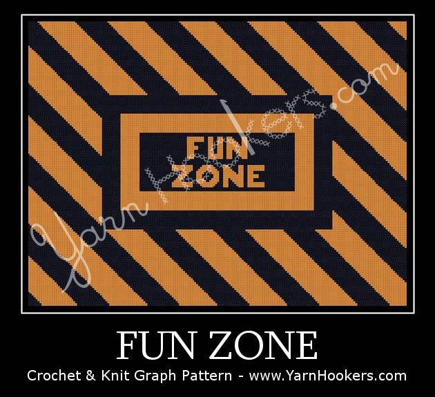 Fun Zone - Afghan Crochet Graph Pattern Chart by Yarn Hookers.com