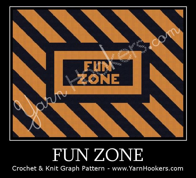 Fun Zone - Afghan Crochet Graph Pattern Chart by Yarn Hookers.com