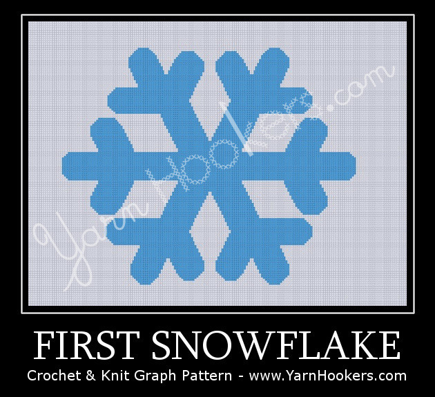 First Snowflake - Afghan Crochet Graph Pattern Chart by Yarn Hookers.com