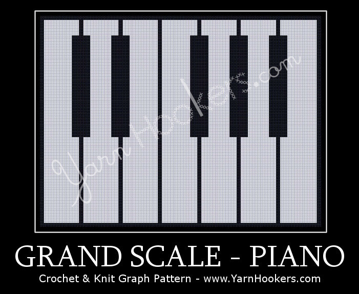 Grand Scale - Piano - Afghan Crochet Graph Pattern Chart by Yarn Hookers.com