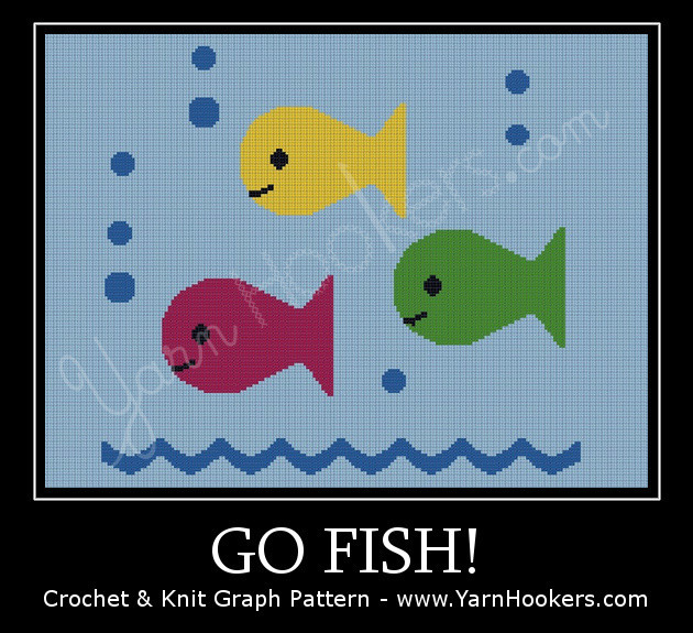 Go Fish! - Afghan Crochet Graph Pattern Chart by Yarn Hookers.com