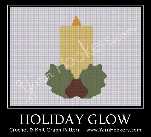 Holiday Glow - Afghan Crochet Graph Pattern Chart by Yarn Hookers.com