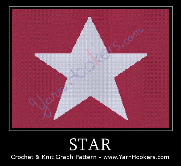 Star - Afghan Crochet Graph Pattern Chart by Yarn Hookers.com