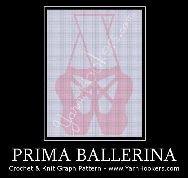 Prima Ballerina - Afghan Crochet Graph Pattern Chart by Yarn Hookers.com