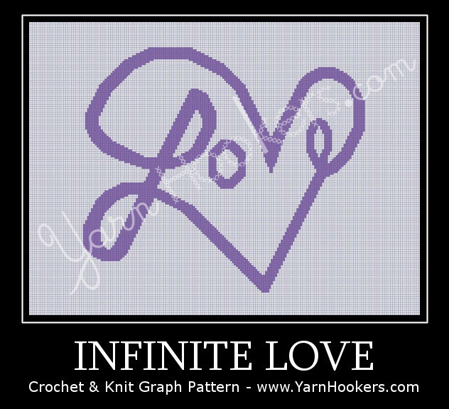Infinite Love - Afghan Crochet Graph Pattern Chart by Yarn Hookers.com