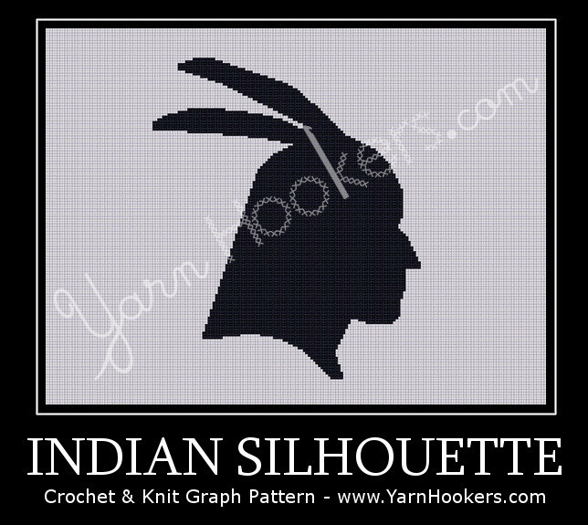 Indian Silhouette - Afghan Crochet Graph Pattern Chart by Yarn Hookers.com