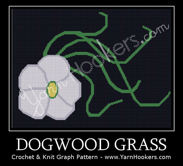 Dogwood Grass - Afghan Crochet Graph Pattern Chart by Yarn Hookers.com