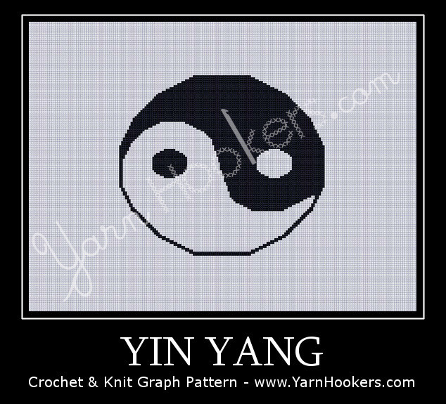 Yin Yang - Afghan Crochet Graph Pattern Chart by Yarn Hookers.com