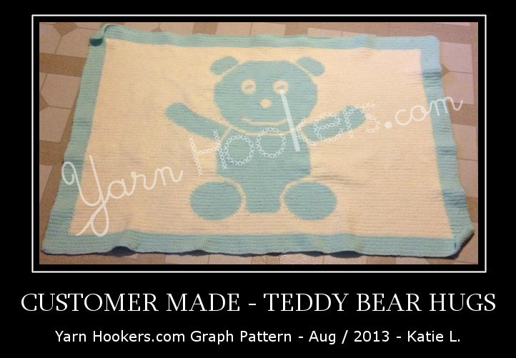 Teddy Bear Hugs - Afghan Crochet Graph Pattern Chart by Yarn Hookers.com