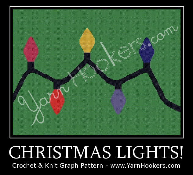 Christmas Lights - Afghan Crochet Graph Pattern Chart by Yarn Hookers.com