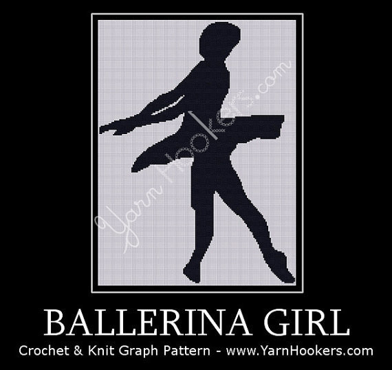 Ballerina Girl - Afghan Crochet Graph Pattern Chart by Yarn Hookers.com