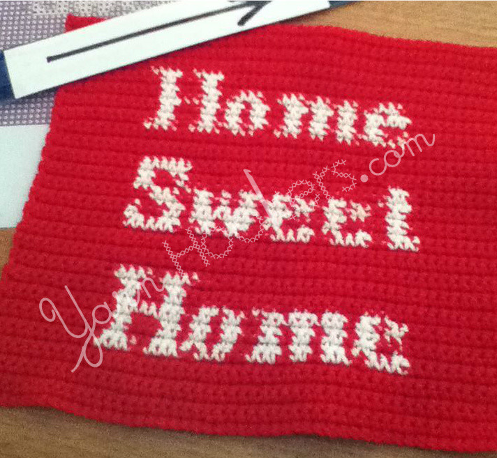 HOME SWEET HOME - Afghan Crochet Graph Pattern Chart by Yarn Hookers.com