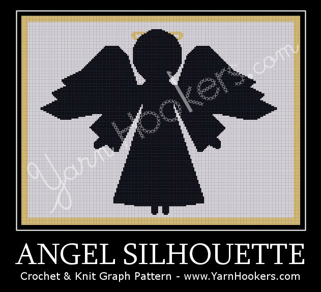 Angel Silhouette - Afghan Crochet Graph Pattern Chart by Yarn Hookers.com