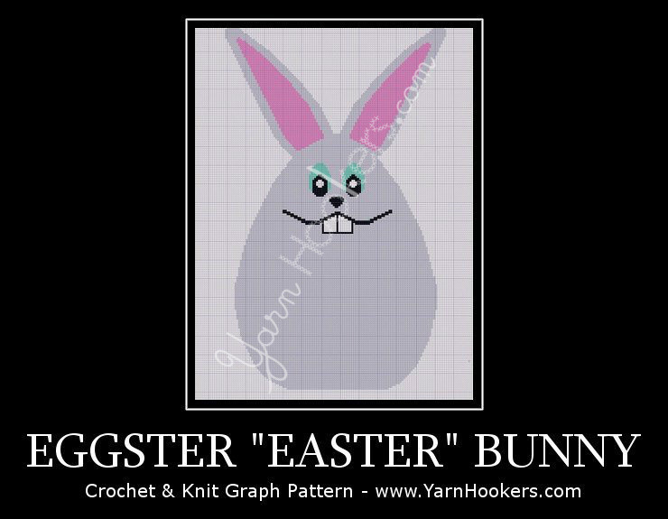 "Eggster ""Easter"" Bunny - Afghan Crochet Graph Pattern Chart by Yarn Hookers.com"