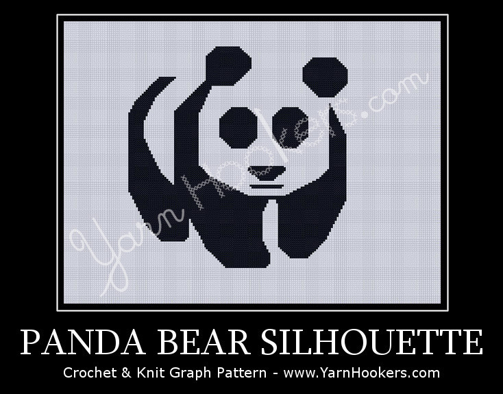 Panda Bear - Afghan Crochet Graph Pattern Chart by Yarn Hookers.com