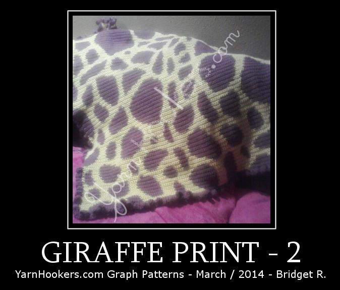 Giraffe Animal Print - Afghan Crochet Graph Pattern Chart by Yarn Hookers.com
