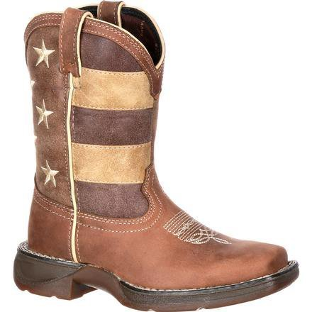 9bc454398fc Lil' Rebel by Durango Little Kids' Faded Glory Flag Western Boot
