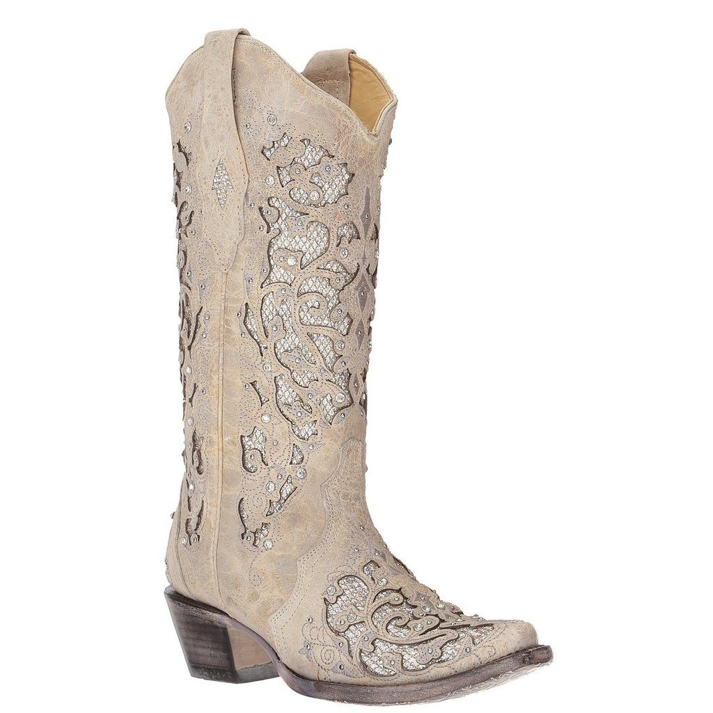 59d9a3cc1f92 Corral Glitter Women's Inlay wedding boots