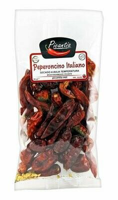Kokonaiset Kuivatut Italian Peperoncino-Paprikat | Whole Dried Italian Peperoncino Peppers | PICANTIA | 30 G
