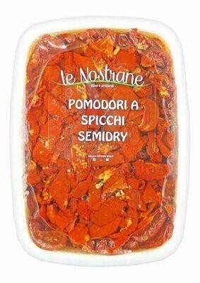 Puolikuivatut Tomaattilohkot Öljyssä | Semi-Dry Tomato Wedges In Oil | LE NOSTRANEN | 1 KG