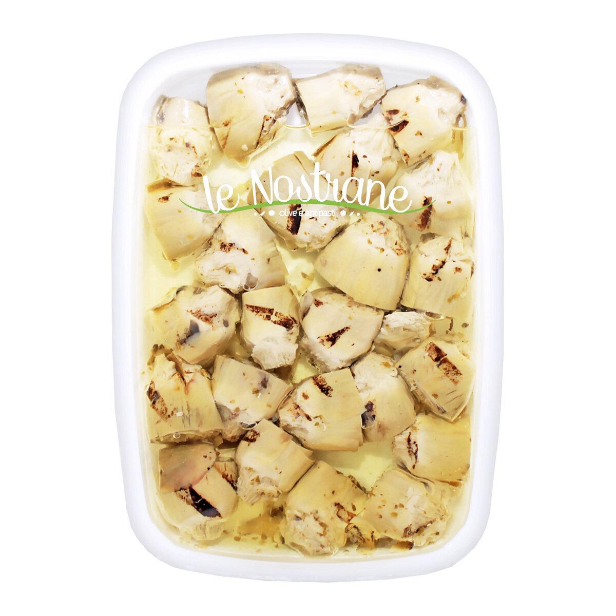 Grillatut Artisokan Sydämet Öljyssä | Grilled Artichoke Hearts In Oil | LE NOSTRANEN | 1 KG