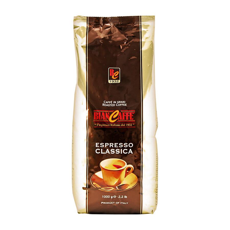 Kahvipavut Classica (Ruskea Pussi) 70% Arabica 30% Robusta   Coffee Beans Espresso Classica   BIANCAFFE   1 KG