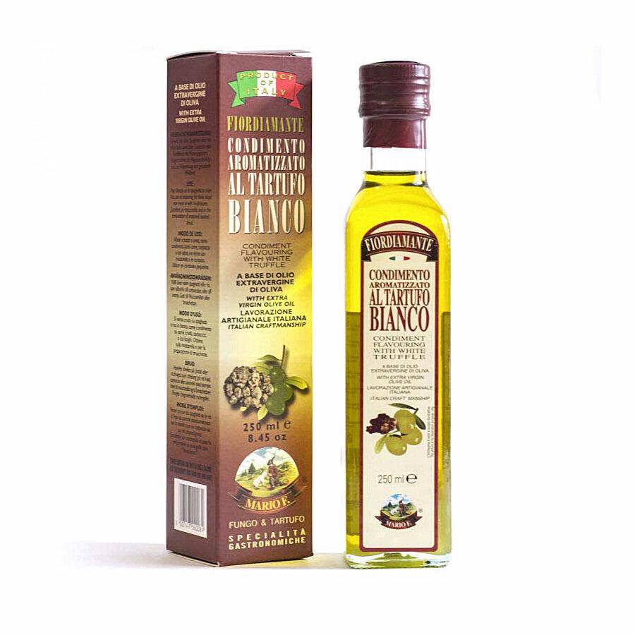 Valkotryffeleliöljy Ekstraneitsytoliiviöljyssä | White Truffle  Flavoured Evoo | MARIO F. | 250 ML