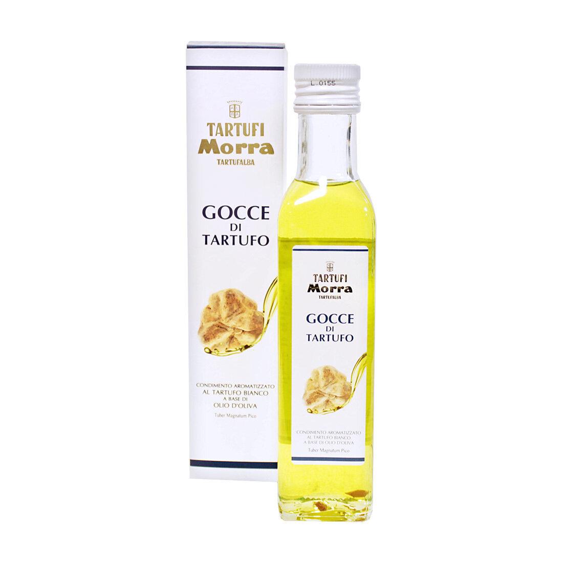 Valkotryffeliöljy (Tuber Magnatum Pico) | White Truffle Flavoured Olive Oil | TARTUFI MORRA | 250 ML