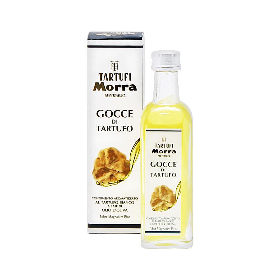 Valkotryffeliöljy (Tuber Magnatum Pico)   White Truffle Flavoured Olive Oil   TARTUFI MORRA   55 ML
