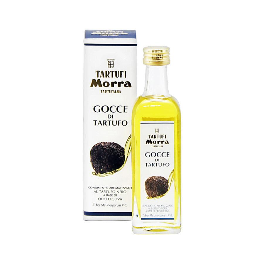 Talvitryffeliöljy, Mustasta Tryffelistä (Tuber Melanosporum Vitt.) | Black Winter Truffle Flavoured Olive Oil | TARTUFI MORRA | 55 ML