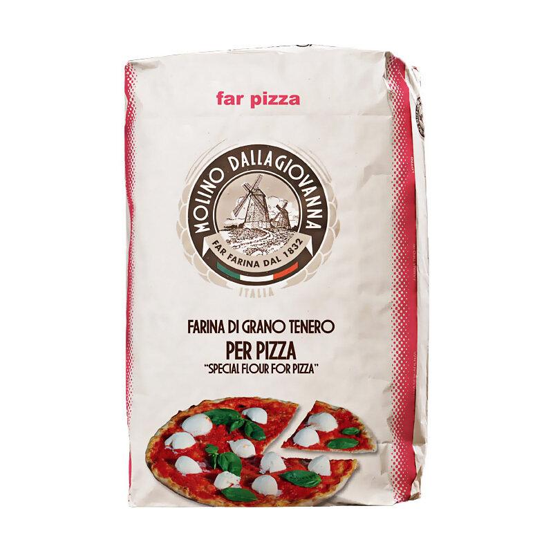 """Pizzajauho """"00"""" E Rose W-250, P/L-0.55, A-54   Pizza Flour """"00"""" E-Rose   MOLINO DALLAGIOVANNA   25 KG"""