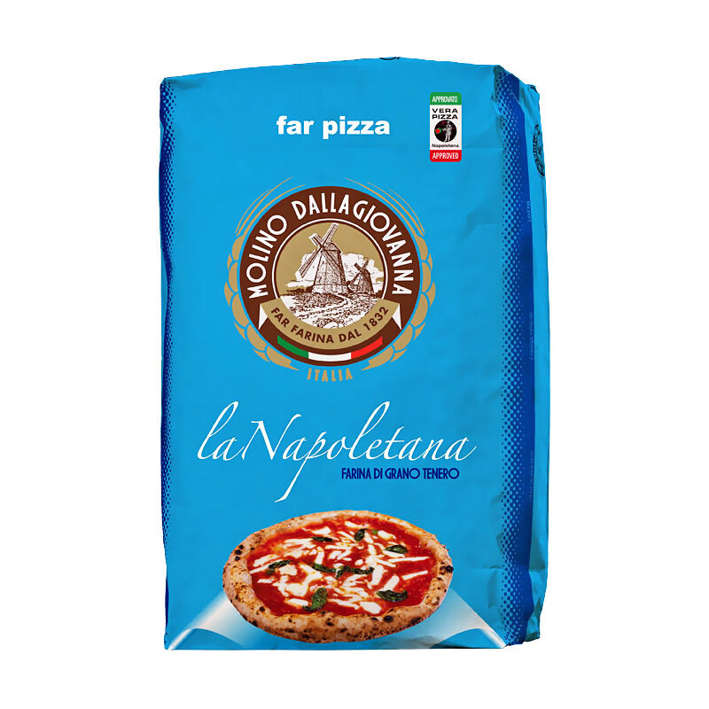 "Pizzajauho ""00"" La Napoletana W-320, P/L-0.7, A-58 | Pizza Flour ""00"" La Napoletana | MOLINO DALLAGIOVANNA | 25 KG"