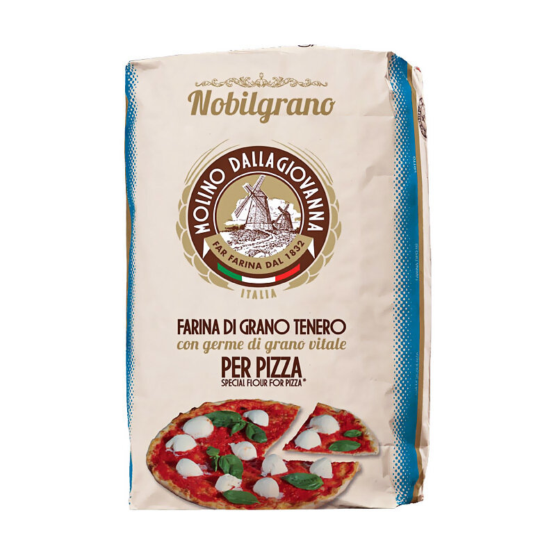 "Pizzajauho ""0"" N Blue Nobilgrano W-300, P/L-0.6, A-56   Pizza Flour ""0"" N Blue Nobilgrano   MOLINO DALLAGIOVANNA   25 KG"