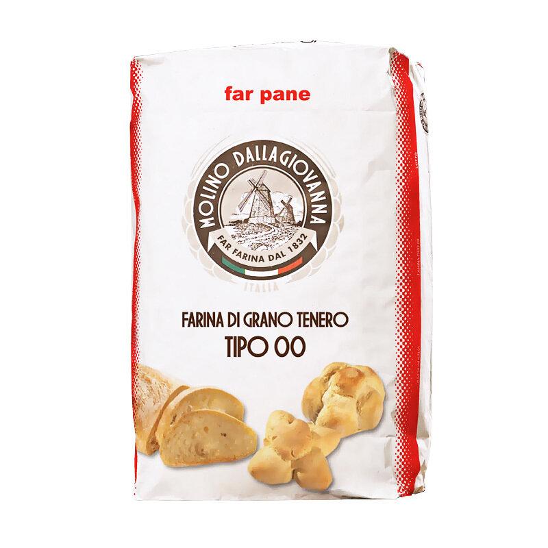 """Leipäjauho """"Bread 00 - RP"""" W-350, P/L-0.6, A-58   Bread Flour """"Bread 00 - RP""""  MOLINO DALLAGIOVANNA   25 KG"""