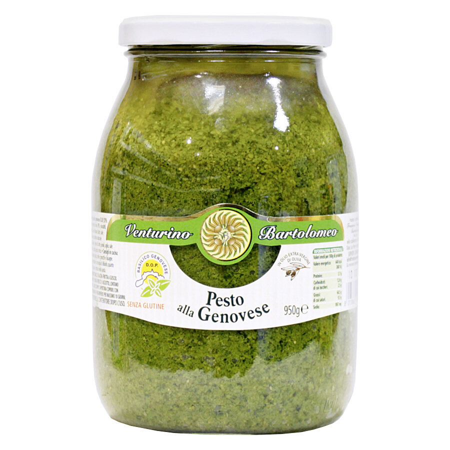 Genoese Oliiviöljypohjainen Pesto (D.O.P.) | Pesto With Genovese Basil D.O.P. And Evoo | VENTURINO | 950g