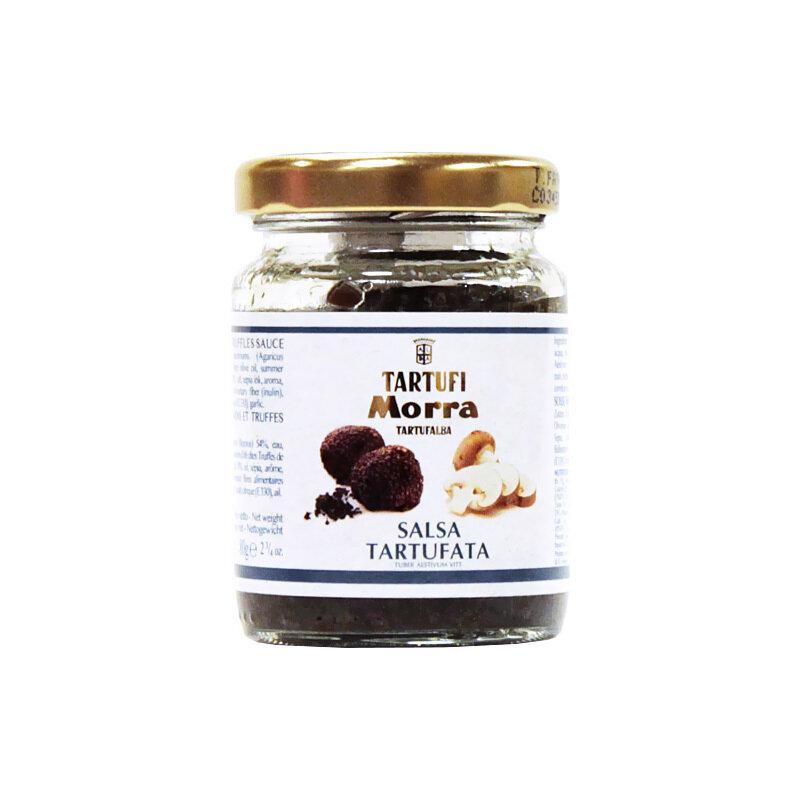 Sienet & Kesätryffelikastike Mustasta Tryffelistä (8%)   Tartufata Mushrooms & Truffles Sauce   TARTUFI MORRA   80 G