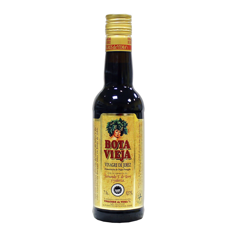 Sherrystä valmistettu etikka Bota Vieja D.O.P. Reserva   Sherry Vinegar Bota Vieja   VINAGRES DE YEMA S.L.   375 ML