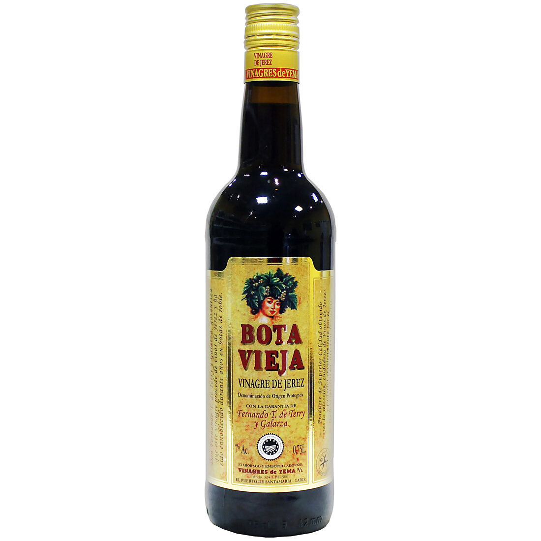 Sherryviinietikka Bota Vieja D.O.P. Reserva | Sherry Vinegar Bota Vieja | VINAGRES DE YEMA S.L. | 750 ML