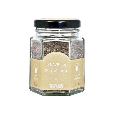 Kuivatut Kaprikset Muruiksi Hakattu | Chopped Dried Caper Berries | LA NICCHIA | 40 G