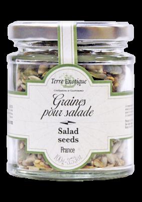 Siemenseos Salaattia varten (auringonkukansiemenet, pellavansiemenet, seesaminsiemenet, squash-siemenet) | Seeds for Salad | TERRE EXOTIQUE | 100g